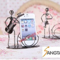 Mô hình nhạc công đỡ điện thoại ngộ nghĩnh