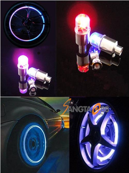 Đèn 1 led phát sáng lắp van xe