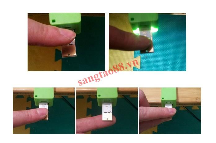 Đèn 4 led cảm ứng siêu mỏng cắm cổng USB