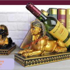 Giá đỡ chai rượu nhân sư Ai Cập