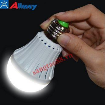 Bóng đèn led Allmay 4W đui xoáy sạc điện