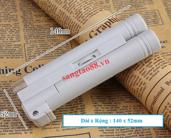 Kính lúp 100X mini cầm tay có đèn V2