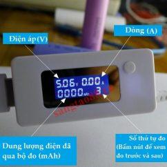 Thiết bị đo điện áp và dòng sạc điện thoại V2