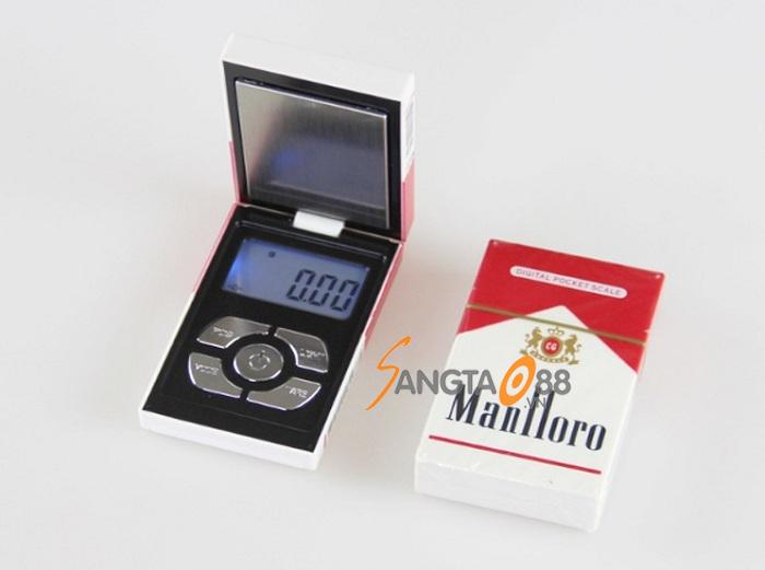 Cân tiểu ly 200g/0.01g giả bao thuốc lá Marlboro