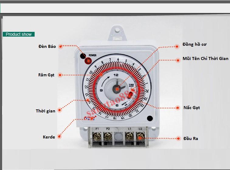 Công tắc hẹn giờ lập trình giờ bật tắt điện công suất lớn