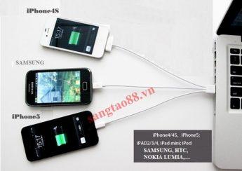Dây sạc đa năng 3in1 cho Smartphone