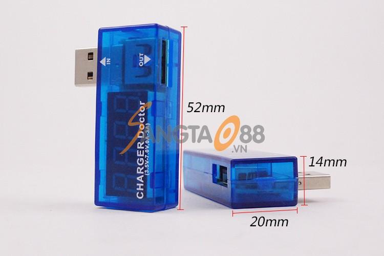 Thiết bị đo điện áp và dòng sạc điện thoại