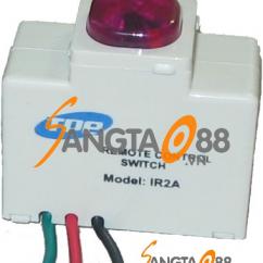 Công tắc điều khiển từ xa hồng ngoại Model IR2A