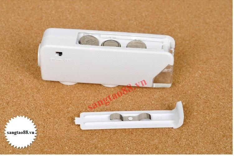 Kính lúp 160x-200X mini có đèn