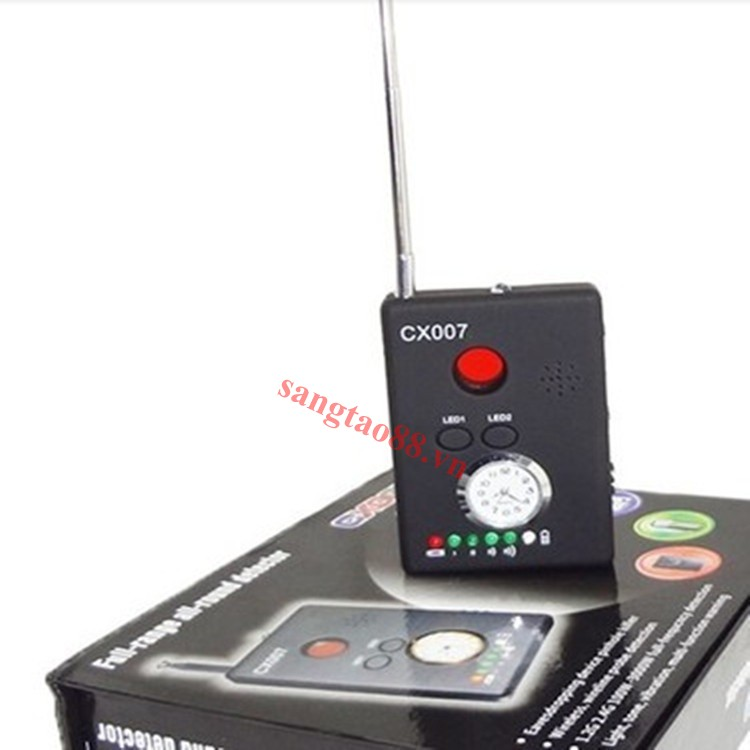 Máy phát hiện camera quay lén, định vị GPS, máy nghe trộm,...