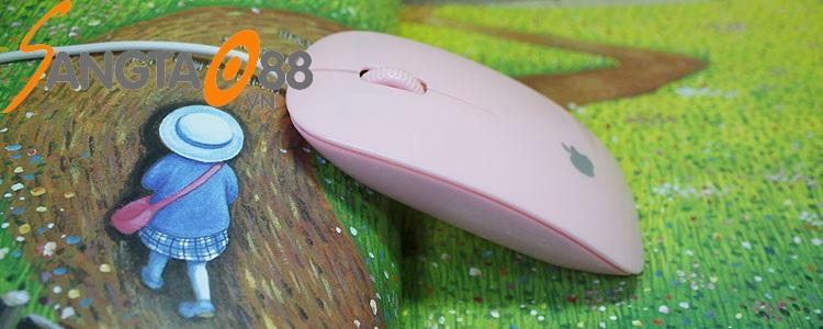 chuột siêu mỏng màu hồng