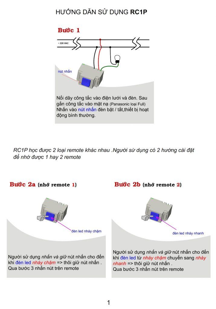công tắc điều khiển từ xa rc1p