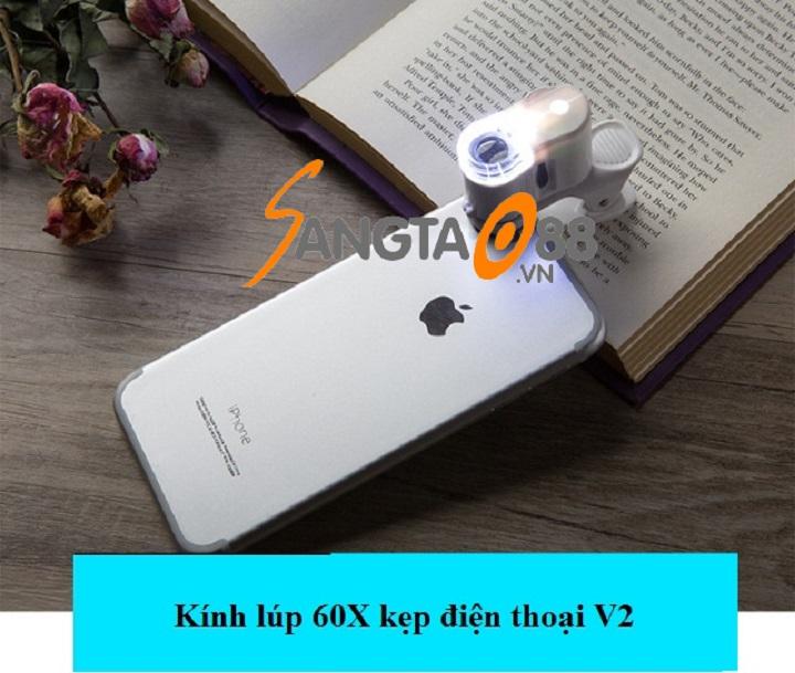 Kính lúp 60X kẹp điện thoại V2