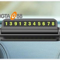 Bảng số điện thoại để trong ô tô
