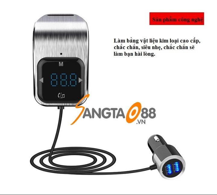 Bộ chuyển MP3 - FM trên ô tô có Bluetooth BC39