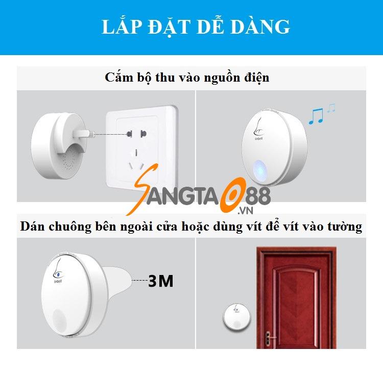 Chuông cửa không dây cao cấp Linbell G2
