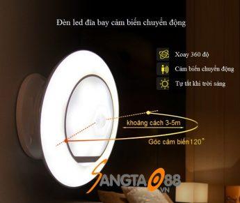 Đèn led đĩa bay cảm biến chuyển động