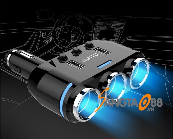 Bộ chia tẩu sạc trên ô tô YANTU BC39 QC3.0