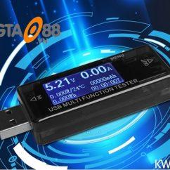 Thiết bị đo điện áp và dòng sạc điện thoại V3