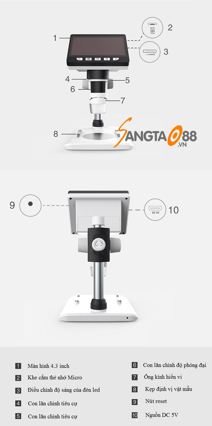 Chi tiết kính hiển vi