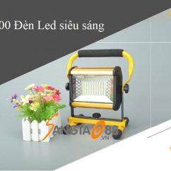 Đèn 100W siêu sáng sạc điện W808