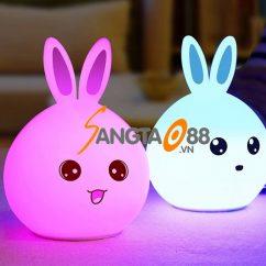 Đèn ngủ cảm ứng hình thỏ có điều khiển từ xa