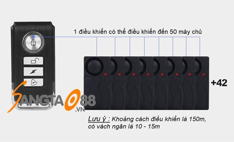 Báo động cảm biến rung có ĐKTX 4R