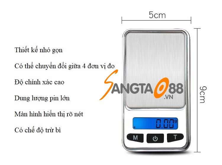 Đặc điểm cân tiểu ly điện tử C568