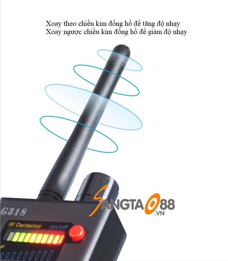 Máy phát hiện định vị, máy nghe lén, camera quay lén G318