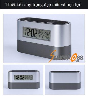 Đồng hồ để bàn kiêm hộp đựng bút V3