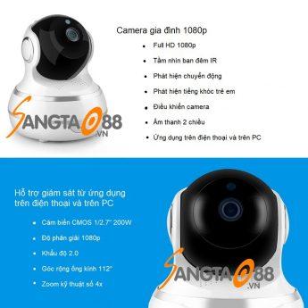 Đăc điểm của camera wifi TY-1080P-F3