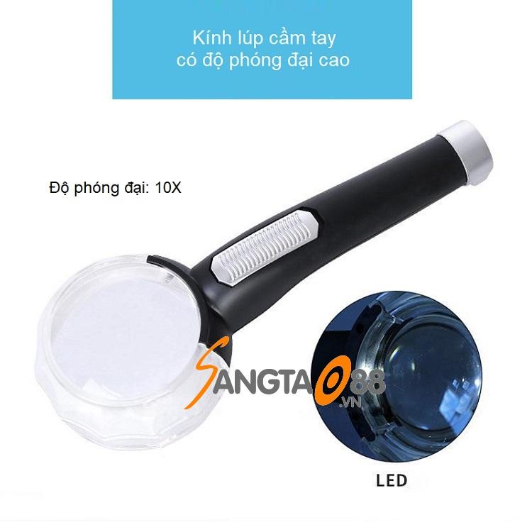 Đặc điểm của kính lúp cầm tay 10X có đèn COB K8015