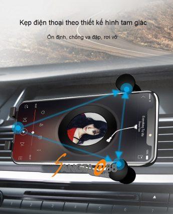 Giá đỡ điện thoại trên ô tô HM1