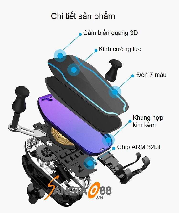 Sạc điện thoại không dây trên ô tô HM1