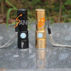 Đèn pin mini Q5 sạc USB