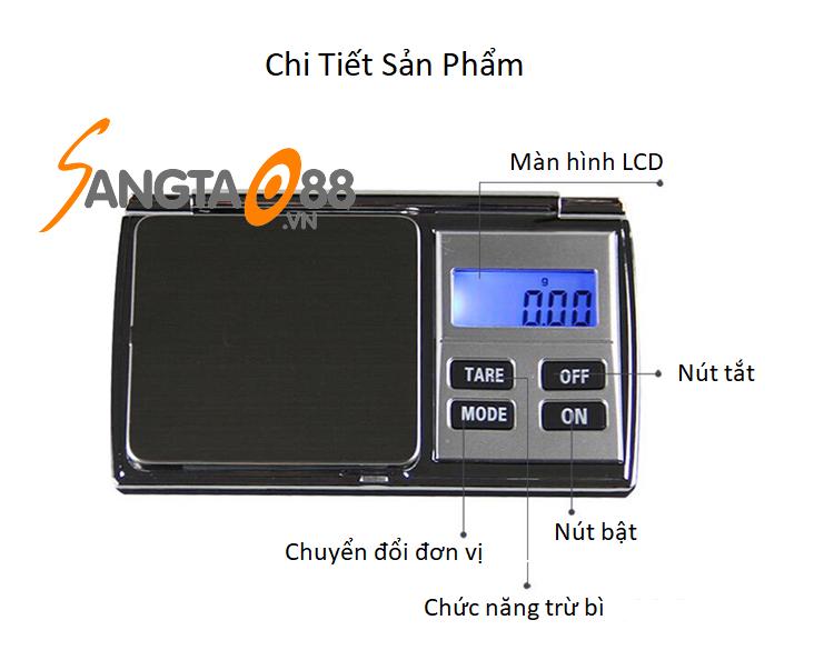 Cân tiểu ly điện tử 500g/0.01g DH-C01