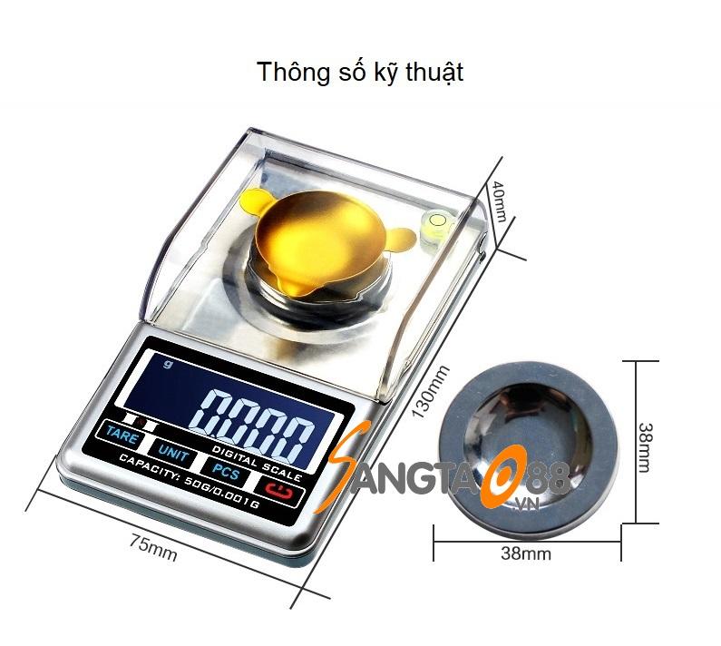 Cân tiểu ly để bàn 50g/0.001g JFC-500