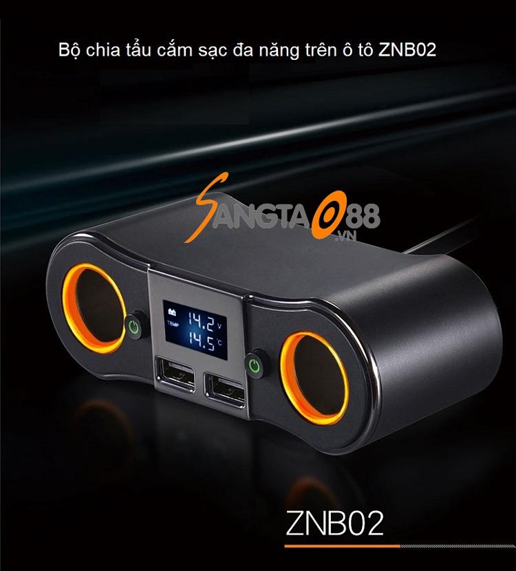 Bộ chia tẩu cắm sạc đa năng trên ô tô ZNB02