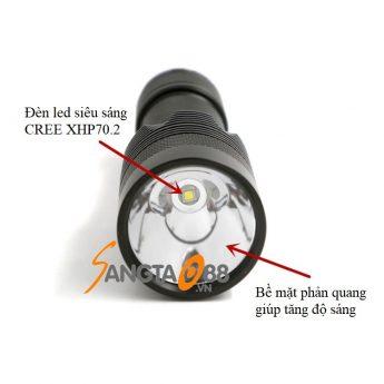 Đèn pin siêu sáng C8.2 CREE XHP70.2