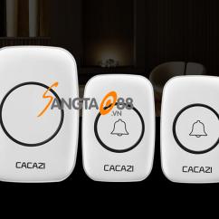 Chuông đôi không dây chống nước Cacazi Katjas A10
