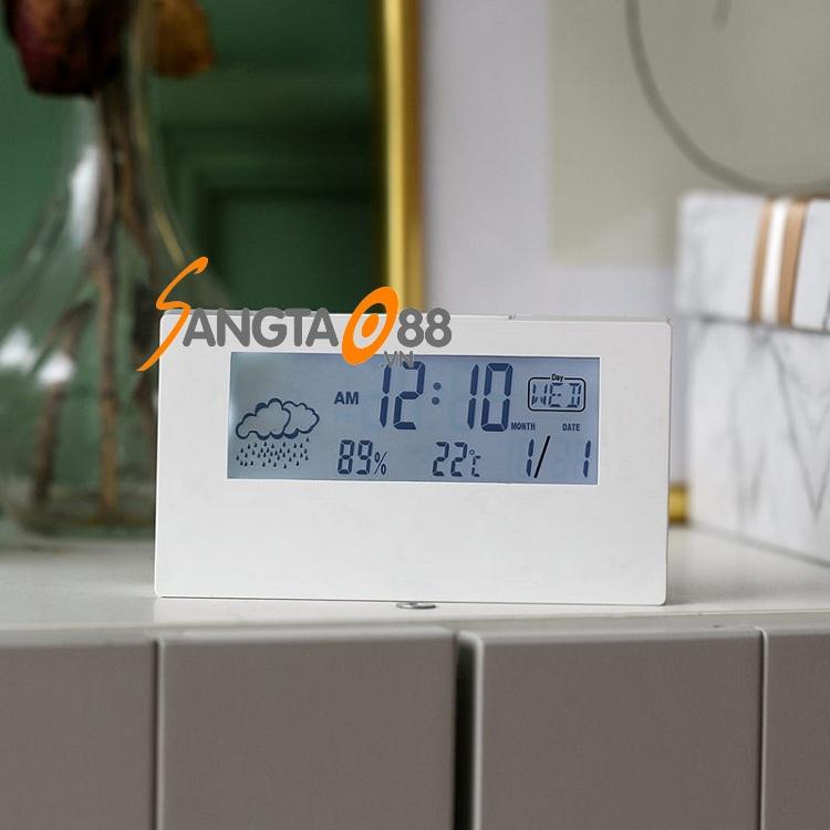 Đồng hồ điện tử để bàn có đèn