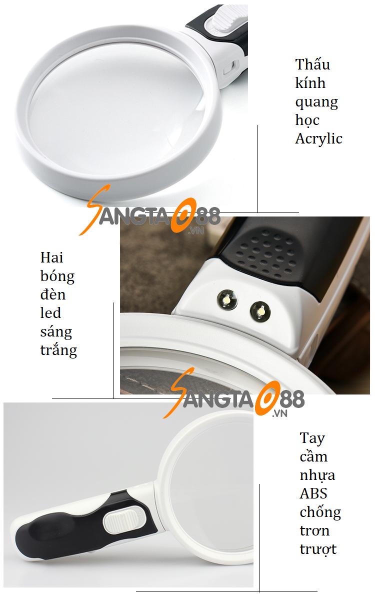 Kính lúp 20x cầm tay có đèn B90