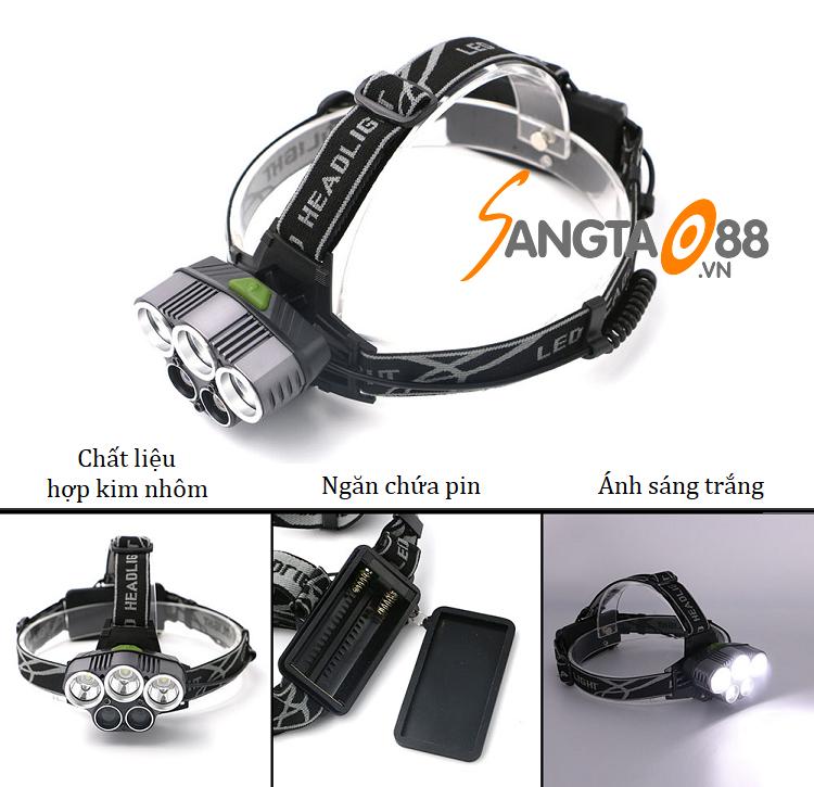 Đèn pin đeo trán 5 LED T6