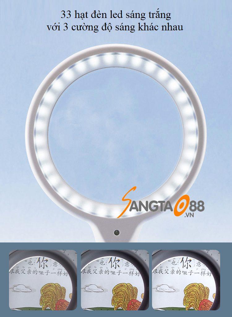 Kính lúp 10X cầm tay có đèn TH-3301
