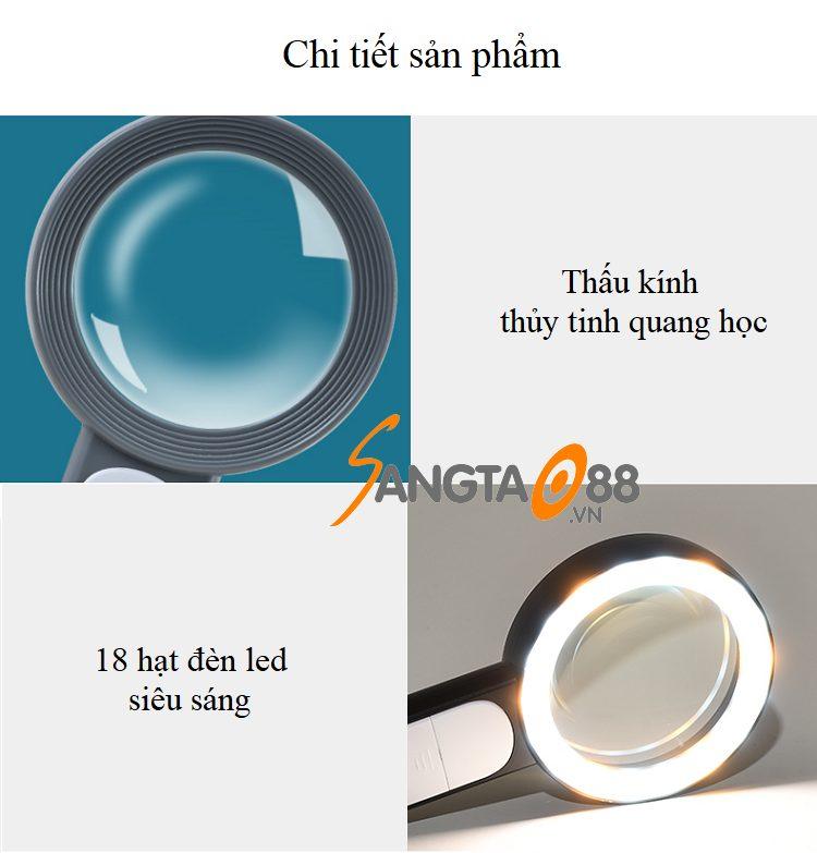 Kính lúp cầm tay có đèn K2290-18
